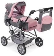 Bayer CHIC 2000 562 15 Super Kombi-Puppenwagen Roadstar für große Kinder, Melange grau-rosa