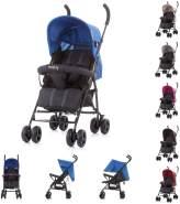 Chipolino Kinderwagen Buggy Everly, gefederte Räder Rückenlehne verstellbar Korb blau