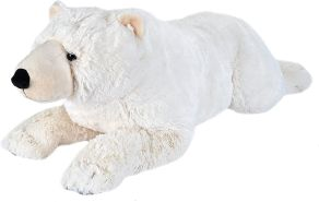 Wild Republic 19554 Jumbo Plüsch Eisbär, großes Kuscheltier, Plüschtier, Cuddlekins, 76 cm
