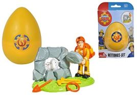 Simba 109251028 - Feuerwehrmann Rettungsset Sam Im Ei
