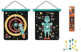 Scratch 276182031 Dartspiel für Kinder, Dartscheibe und Wurfpfeile, Motiv Roboter, medium