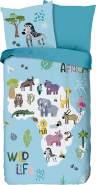 Good Morning! Kinder-Wendebettwäsche Wild Life Renforcé blau Größe 135x200 cm (80x80 cm)