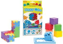 Happy 22266 - Happy Cube 6-pack cardboardbox, 3D-Puzzlewürfel mit mittelerem Schwierigkeitsgrad, 6 Stück