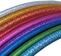 hoopomania Kinder Hula Hoop, Hologramm Farben, Ø 80cm Gelb