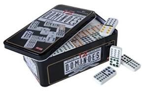 Engelhart - 250103 - Domino Doppel 12 in Metalldose - Kinder und Erwachsene Taktik Spiel - Brettspiel