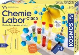 KOSMOS C1000 - Chemielabor, Basis-Laborausstattung, Chemie für Kinder ab 10 Jahre, Basislehrgang, Experimentierkasten