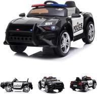 Chipolino Kinder Elektroauto Police EVA-Reifen Fernbedienung Sirene Sprechgerät schwarz