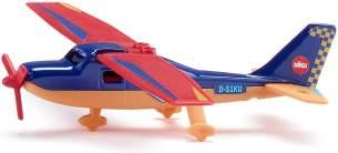 Siku 1101 Sportflugzeug mit 16 Sticker blau/rot/orange