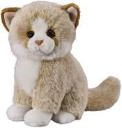Deine Tiere mit Herz Bauer Spielwaren Katze: Sitzendes Kuscheltier aus softem Plüsch, zum Spielen und Verschenken, 18 cm, beige (12500)