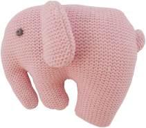 Bieco 37000507 Plüsch Rasselelefant aus Baumwolle, rosa