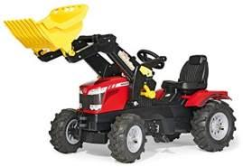 Rolly Toys rollyFarmtrac MF 7726 Tretfahrzeug (für Kinder ab drei Jahre, Luftbereifung, verstellbarer Sitz, Front- und Heckkupplung) 611140