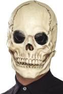 Halloween! Smiffys Totenkopfmaske, Weiß, Schaumlatex, komplette Kopfabdeckung mit separatem beweglichem Kiefer