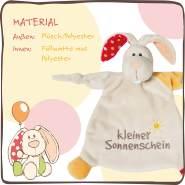 NICI Schmusetuch Hase 'Kleiner Sonnenschein´ 25x25 cm – Schnuffeltuch ab 0+ Monaten – Kuscheltuch für Babys & Kleinkinder – Baby Kuscheltier / Schnuffeltuch – Schmusetuch für Mädchen & Jungen – 40043