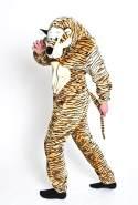 Foxxeo Premium Plsch Tiger Kostm fr Erwachsene Damen und Herren Tierkostm Overall Jumpsuit Grße S