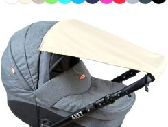BABYLUX Sonnenschutz SONNENSEGEL für Kinderwagen UNI Buggy UV Schutz Beige