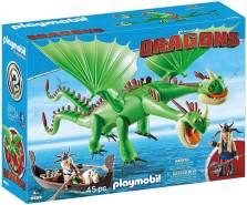 Playmobil 9458 - DreamWorks Dragons, Raffnuss und Taffnuss mit Kotz und Würg, Ab 4 Jahren