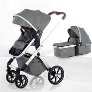 beqooni® Kombikinderwagen 2 in 1 Sparkling Grey