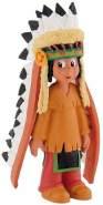 Bullyland 43356 - Spielfigur, Yakari mit Federschmuck, ca. 6 cm groß, liebevoll handbemalte Figur, PVC-frei, tolles Geschenk für Jungen und Mädchen zum fantasievollen Spielen