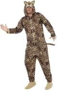 Smiffys, Unisex Leoparden Kostüm, All-in-One mit Kapuze, Größe: M, 50977