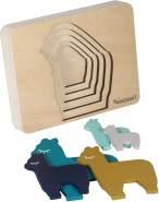 Kindsgut - Tier-Puzzle, Holz-Puzzle, Baby, Lama