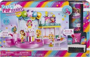 Party Popteenies 6043875 - Party PopTeenies Poptastic Party Spielset - Konfettikanone - Sammelpüppchen - Party feiern