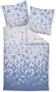 Janine Feinbiber 2 teilig Bettbezug 135 x 200 cm Kopfkissenbezug 80 x 80 cm Davos 65081-02 silberseeblau