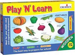 Creative Educational 850,9 cm Play N Learn Holz Gemüse Spiel