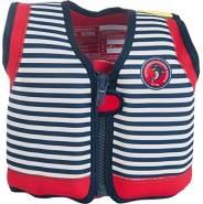 Konfidence Schwimmweste - Design: Hamptons Navy Stripe, Größe: 16-21 kg