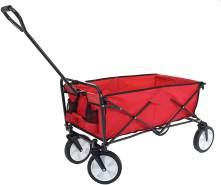 Faltbarer Bollerwagen HWC-E38, Handwagen Gartenwagen Transportwagen klappbar ~ ohne Dach/Hecktasche rot