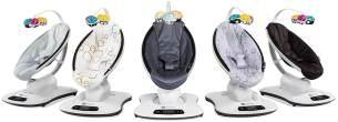 4moms elektrische Babywippe mamaRoo 4, 5 Bewegungsarten & Geschwindig-keiten, per App bedienbar, mit Musik & Mobile, schwarz