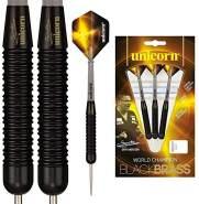 Gary Anderson Brass Darts Stielspitze 24g Messing schwarz/gelb