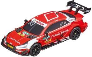 Carrera GO!!! DTM Master Class Rennstrecken-Set | 8.9m elektrische Rennbahn mit Ekströms & Rasts Audi RS 5 Spielzeugauto | mit 2 Handreglern & Streckenteilen | Für Kinder ab 6 Jahren & Erwachsene