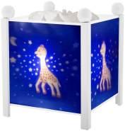 Trousselier - Sophie Die Giraffe - Nachtlicht - Magische Laterne - Ideales Geburtsgeschenk - Farbe Holz weiß - animierte Bilder - beruhigendes Licht - 12V 10W Glühbirne inklusive - EU Stecker