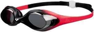 arena Kinder Unisex Training Wettkampf Schwimmbrille Spider Junior (UV-Schutz, Anti-Fog, Harte Gläser), rot (Red-Smoke-Black), One Size