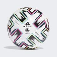adidas Boys UNIFO LGE J350 Soccer Ball, White-Black-Signal Green-Bright Cyan, 5