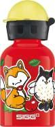 SIGG Forest Kids Kinder Trinkflasche (0.3 L), schadstofffreie Kinderflasche mit auslaufsicherem Deckel, federleichte Trinkflasche aus Aluminium