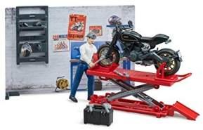 bruder 62101 Bworld Motorradwerkstatt, Mehrfarbig