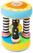 Small Foot 11421 Plüsch Zylinder, Baby Ball Rassel, Lernspielzeug, Mehrfarbig Spielzeug