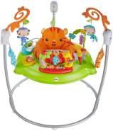Fisher-Price CHM91 - Jumperoo Baby Hopser inkl. 12 Spielzeugen höhenverstellbar mit Musik und Lichtern, max. 11,3 kg / 81 cm