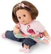 Götz 1916064 Cosy Aquini Flamingo Love Badepuppe - Puppe mit braunen Haaren, braunen Schlafaugen in 7-teiligen Set - 33 cm Mädchen-Babypuppe
