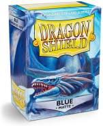 Dragon Shield Matte, Blau / Blue Kartenfolien Kartenhüllen Sleeves - für Sammelkarten wie Pokemon Magic - Standardgröße