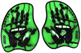 arena Unisex Schwimm Wettkampf Trainingshilfe Hand Paddle Vortex (Ergonomisch, Für Kraft- und Techniktraining), Acid Lime-Black (65), L