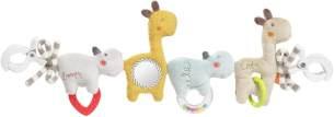 Fehn 059137 Kinderwagenkette Loopy & Lotta – Mobile Kette mit süßen Anhänger-Figuren zum flexiblen Aufhängen – Für Babys und Kleinkinder ab 0+ Monaten – Länge: 45 cm