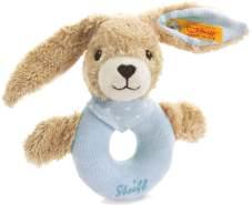 Steiff 237522 Hoppel Greifring 12 blau Hase