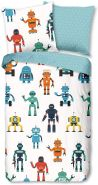 Good Morning! Bettwäsche 6386 Roboter Bunt Baumwolle, Größe:135 cm x 200 cm