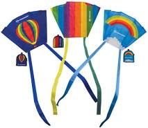 Schildkröt Poket Kite, kleiner handlicher Taschendrache, 45x32cm, inkl. 5 kp Polyesterleine mit Handgriff, 2-4 Beaufort, 970400