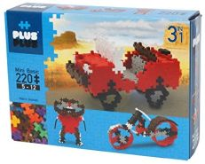 Plus-Plus 9603710 Geniales Konstruktionsspielzeug, Fahrzeuge, Mini Basic, 3-in-1 Bausteine-Set, 220 Teile