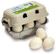 Erzi Eier weiss 6er Pack aus Holz