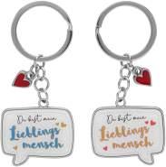 """Schlüsselanhänger für zwei, """"Du bist mein Lieblingsmensch"""""""