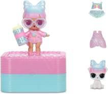 MGA Entertainment L.O.L. Surprise Deluxe Present Surprise - Pink - mit 1 Spielfigur, zufällige Auswahl